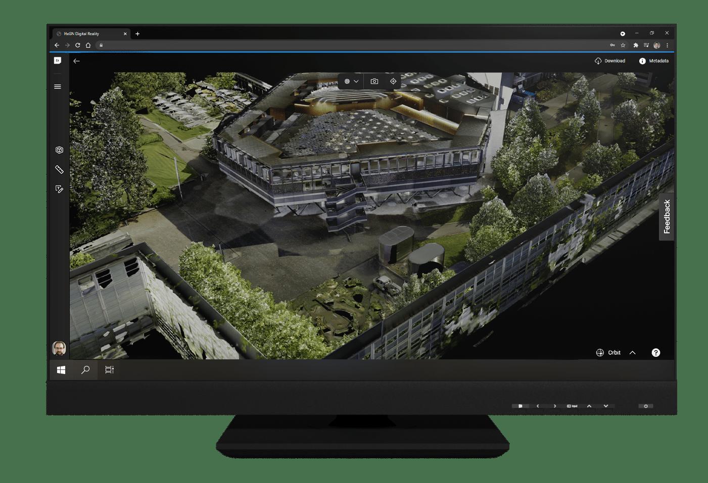 3D Mesh on Desktop Monitor